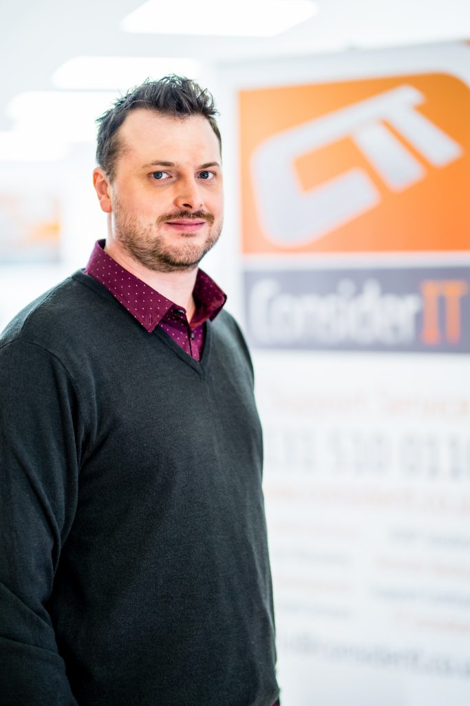 Stuart Gilbertson, founder and MD of Consider IT helped to create the sleek office for disaster recovery in Edinburgh